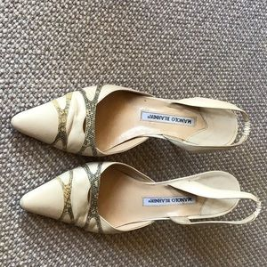 Manola Blahnik sling back high heels